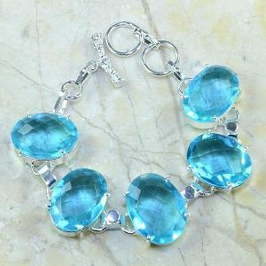 Tpz 034d bracelet topaze bleue bijou argent 925 vente achat