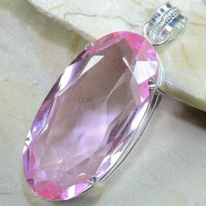 Tpz 035b pendentif pierre topaze rose gemme taille bijou argent 925 vente achat