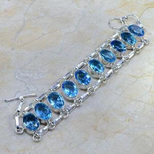 Tpz 037b bracelet topaze bleue bijou argent 925 vente achat