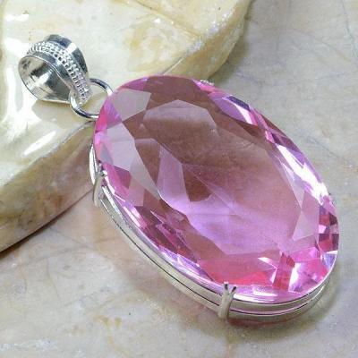 Tpz 039a pendentif pierre topaze rose pink gemme taille bijou argent 925 vente achat