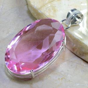 Tpz 039b pendentif pierre topaze rose pink gemme taille bijou argent 925 vente achat 1