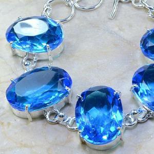 Tpz 040b bracelet topaze bleue bijou argent 925 vente achat