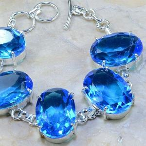 Tpz 040c bracelet topaze bleue bijou argent 925 vente achat