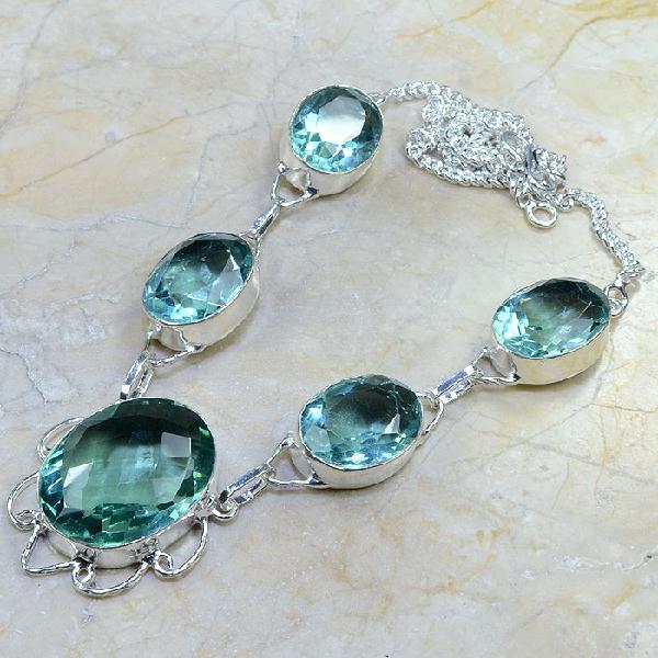 Tpz 041a collier parure sautoir topaze bleue bijou argent 925 vente achat