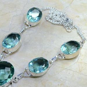 Tpz 041b collier parure sautoir topaze bleue bijou argent 925 vente achat