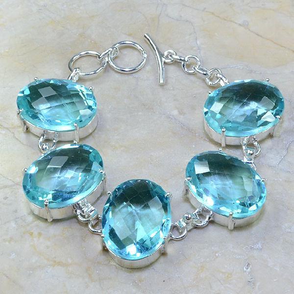 Tpz 044a bracelet topaze bleue bijou argent 925 vente achat