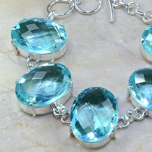Tpz 044b bracelet topaze bleue bijou argent 925 vente achat