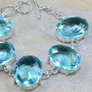 Tpz 044c bracelet topaze bleue bijou argent 925 vente achat