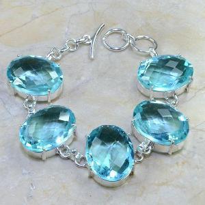 Tpz 044d bracelet topaze bleue bijou argent 925 vente achat