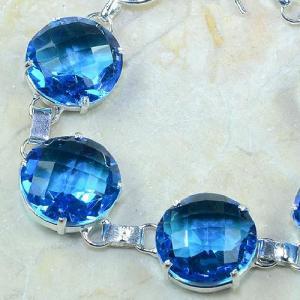 Tpz 049b bracelet topaze bleue iolite bijou argent 925 vente achat