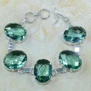 Tpz 056a bracelet topaze bleue bijou argent 925 vente achat