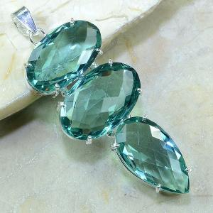 Tpz 060a pendentif pierre topaze bleue gemme taille bijou argent 925 vente achat