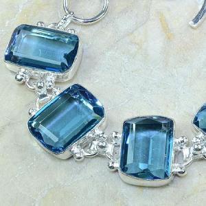 Tpz 061b bracelet topaze bleue bijou argent 925 vente achat