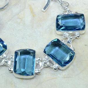 Tpz 061c bracelet topaze bleue bijou argent 925 vente achat