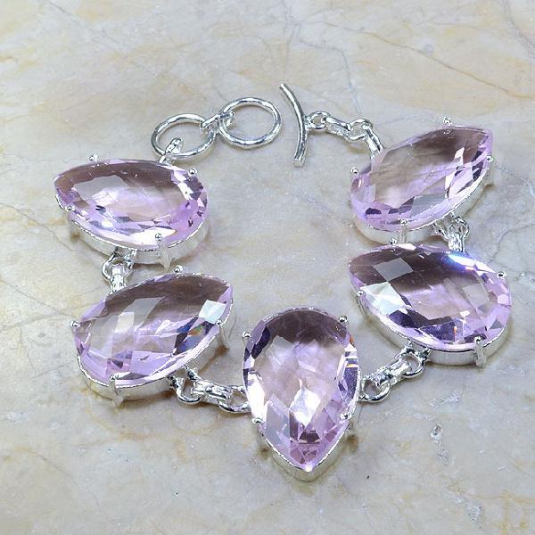 Tpz 064a bracelet topaze rose bijou argent 925 vente achat