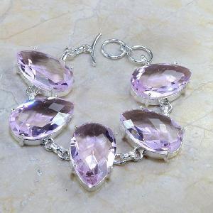 Tpz 064d bracelet topaze rose bijou argent 925 vente achat