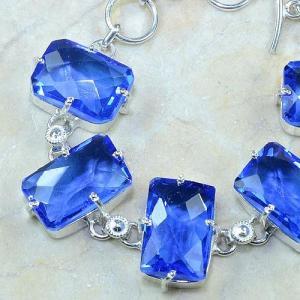 Tpz 072c bracelet topaze iolite bleue bijou argent 925 vente achat