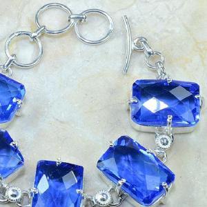 Tpz 072d bracelet topaze iolite bleue bijou argent 925 vente achat