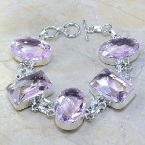 Tpz 077a bracelet topaze rose bijou argent 925 vente achat