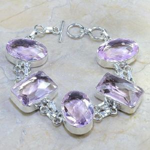 Tpz 077d bracelet topaze rose bijou argent 925 vente achat