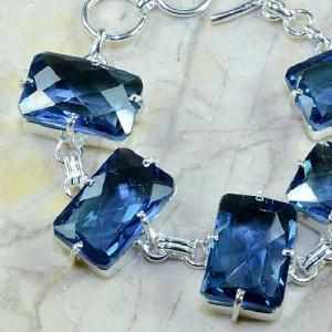 Tpz 079b bracelet topaze iolite bleue bijou argent 925 vente achat