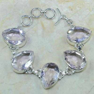 Tpz 083a bracelet topaze rose bijou argent 925 vente achat