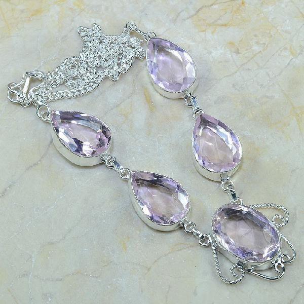 Tpz 084a collier parure sautoir topaze rose bijou argent 925 vente achat