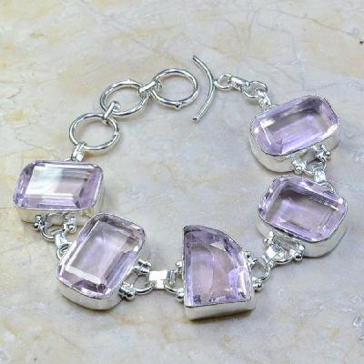 Tpz 085a bracelet topaze rose bijou argent 925 vente achat
