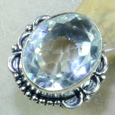 Tpz 094a bague t58 topaze blanche cristal roche bijoux argent 925 vente achat