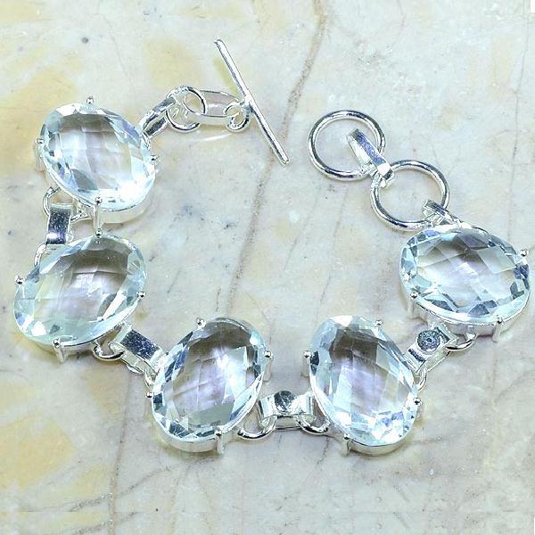 Tpz 096a bracelet topaze blanche cristal bijou argent 925 vente achat