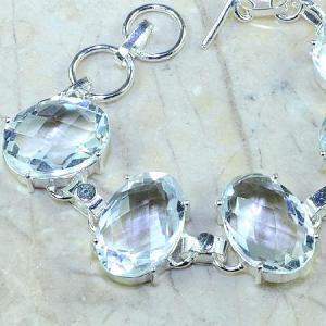 Tpz 096b bracelet topaze blanche cristal bijou argent 925 vente achat