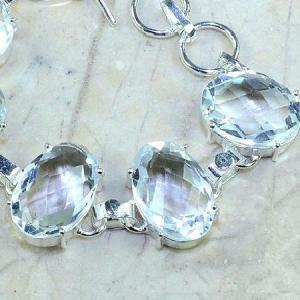 Tpz 096c bracelet topaze blanche cristal bijou argent 925 vente achat