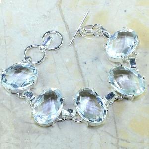 Tpz 096d bracelet topaze blanche cristal bijou argent 925 vente achat