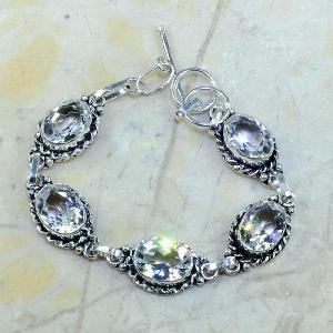 Tpz 097a bracelet topaze blanche cristal bijou argent 925 vente achat