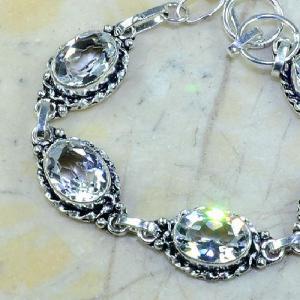 Tpz 097b bracelet topaze blanche cristal bijou argent 925 vente achat