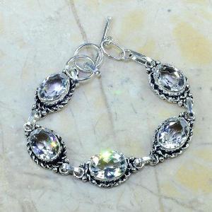 Tpz 097d bracelet topaze blanche cristal bijou argent 925 vente achat