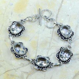 Tpz 098a bracelet topaze blanche cristal bijou argent 925 vente achat