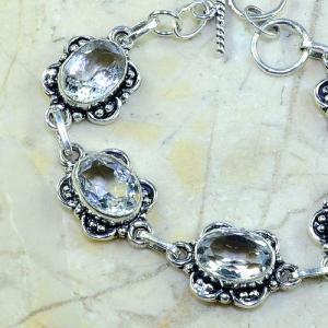 Tpz 098b bracelet topaze blanche cristal bijou argent 925 vente achat