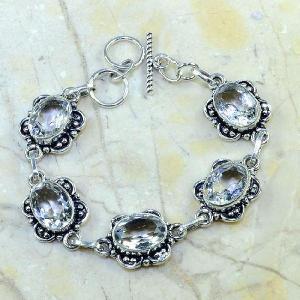 Tpz 098d bracelet topaze blanche cristal bijou argent 925 vente achat