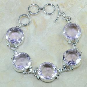 Tpz 101a bracelet topaze rose bijou argent 925 vente achat