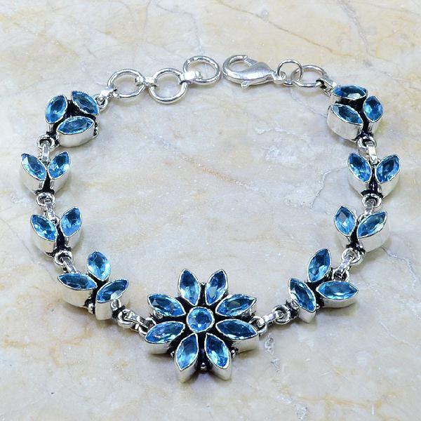 Tpz 102a bracelet topaze rose bijou argent 925 vente achat