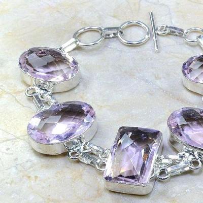 Tpz 103b bracelet topaze rose bijou argent 925 vente achat