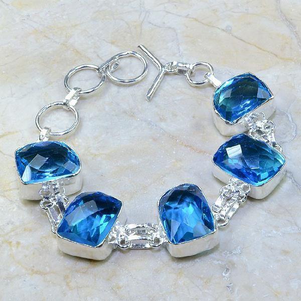 Tpz 109a bracelet topaze bleu iolite bijou argent 925 vente achat 1