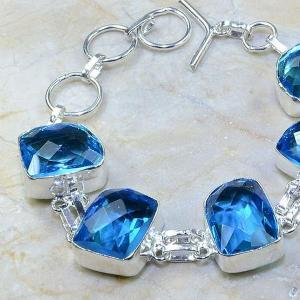 Tpz 109b bracelet topaze bleu iolite bijou argent 925 vente achat