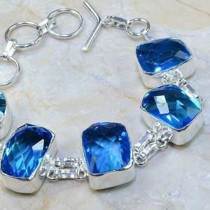 Tpz 109c bracelet topaze bleu iolite bijou argent 925 vente achat