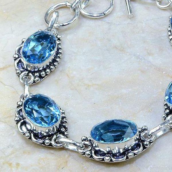 Tpz 111b bracelet topaze bleu iolite bijou argent 925 vente achat