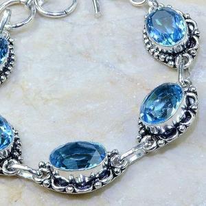 Tpz 111c bracelet topaze bleu iolite bijou argent 925 vente achat
