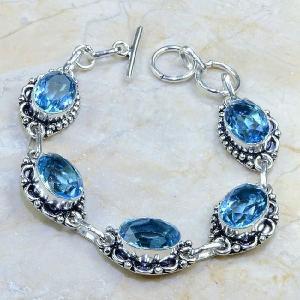 Tpz 111d bracelet topaze bleu iolite bijou argent 925 vente achat