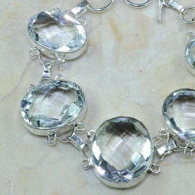 Tpz 115b bracelet topaze blanche cristal bijou argent 925 vente achat