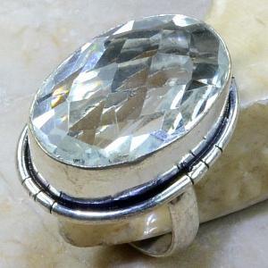 Tpz 122a bague t57 topaze blanche cristal bijoux argent 925 vente achat